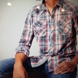 Washed Plaid Athletic Shirt BKE VINTAGE XXL NWT